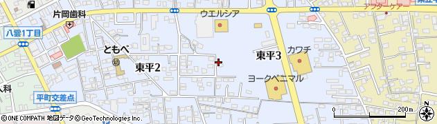茨城県笠間市東平周辺の地図