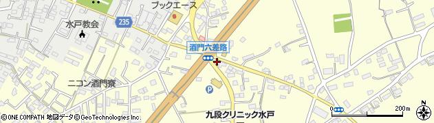 水戸市一般廃棄物第二最終処分場周辺の地図