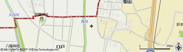 茨城県筑西市口戸周辺の地図