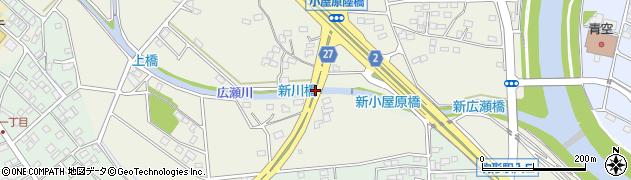 新川橋周辺の地図