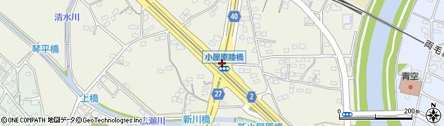 小屋原陸橋周辺の地図