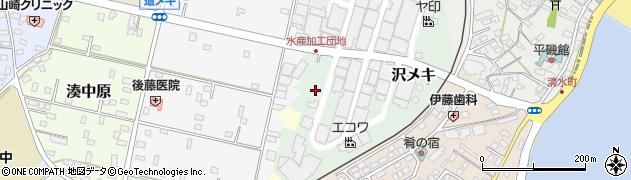 茨城県ひたちなか市沢メキ周辺の地図