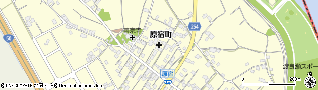群馬県太田市原宿町周辺の地図