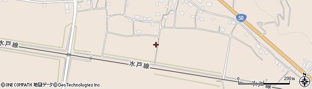 茨城県桜川市加茂部周辺の地図