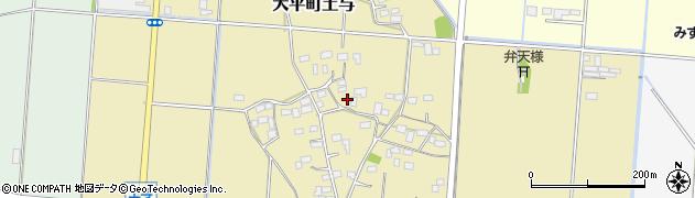 栃木県栃木市大平町土与周辺の地図