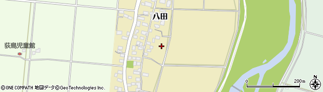 茨城県筑西市八田周辺の地図