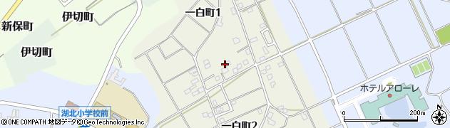 石川県加賀市一白町周辺の地図