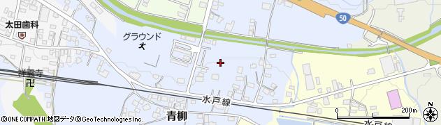 茨城県桜川市青柳周辺の地図