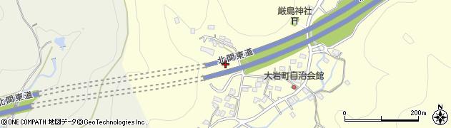 栃木県足利市大岩町周辺の地図