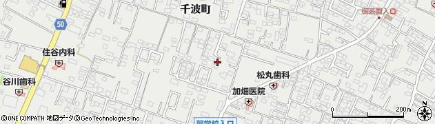 茨城県水戸市千波町周辺の地図