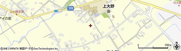 茨城県水戸市東大野周辺の地図