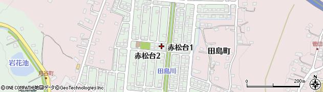 栃木県足利市赤松台周辺の地図