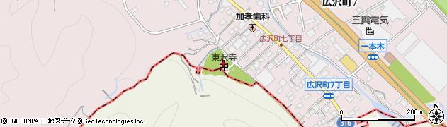東沢寺周辺の地図