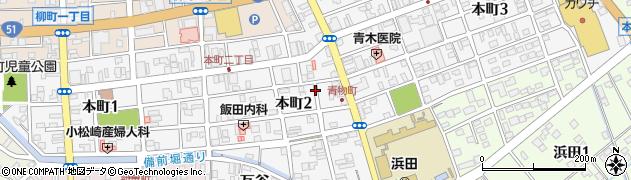 茨城県水戸市本町周辺の地図