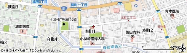 本一丁目アパート周辺の地図