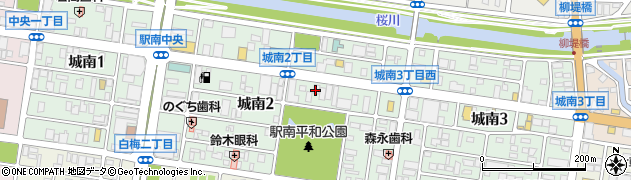 茨城県水戸市城南周辺の地図