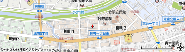 茨城県水戸市柳町周辺の地図