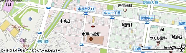 水戸市役所 消費生活センター周辺の地図