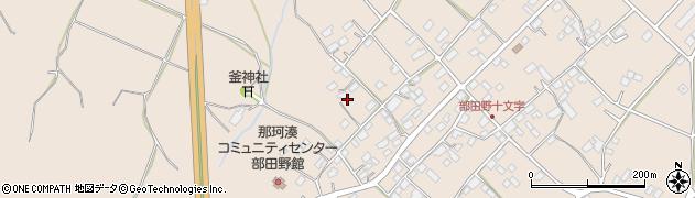茨城県ひたちなか市部田野周辺の地図