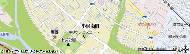 栃木県足利市小俣南町周辺の地図