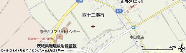 茨城県ひたちなか市西十三奉行周辺の地図