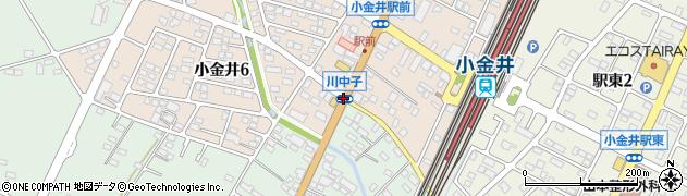 川中子周辺の地図