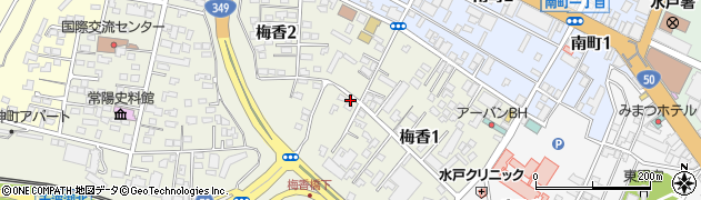 茨城県水戸市梅香周辺の地図