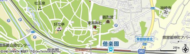 東湖神社周辺の地図
