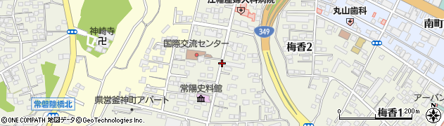 茨城県水戸市備前町周辺の地図
