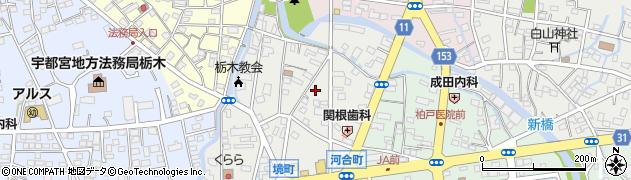 栃木県栃木市境町周辺の地図
