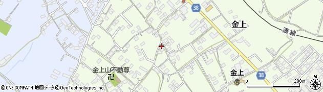 茨城県ひたちなか市金上周辺の地図