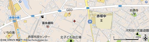茨城県水戸市河和田周辺の地図
