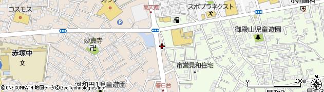 地金分店周辺の地図