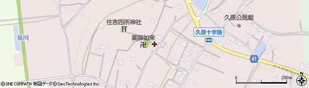 茨城県桜川市久原周辺の地図