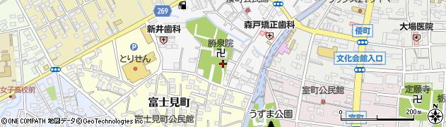 白旗八幡宮周辺の地図