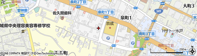 水戸飲食店組合周辺の地図
