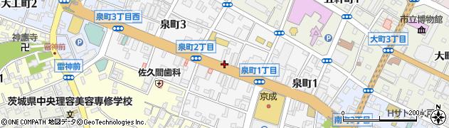 茨城県水戸市泉町周辺の地図