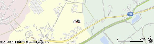 茨城県桜川市小塩周辺の地図