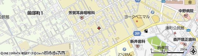 栃木県栃木市祝町周辺の地図