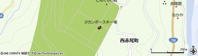 タカンボースキー場周辺の地図