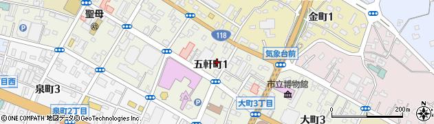 大町総合事務所周辺の地図