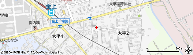 茨城県ひたちなか市大平周辺の地図