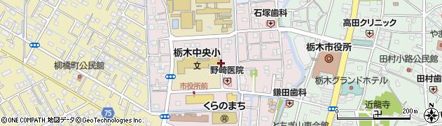栃木県栃木市入舟町周辺の地図