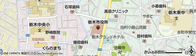 栃木県栃木市周辺の地図