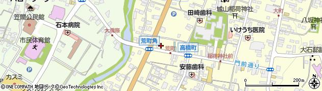 ペットショップ笠間周辺の地図