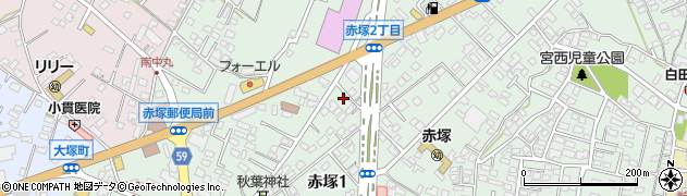 茨城県水戸市赤塚周辺の地図