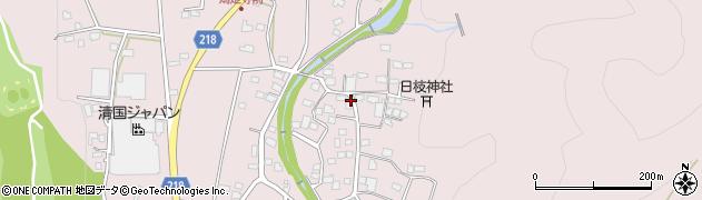 栃木県足利市小俣町周辺の地図