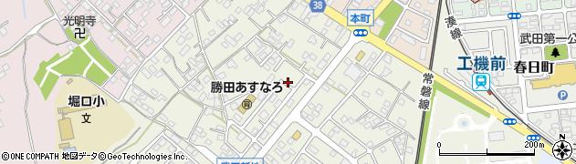 茨城県ひたちなか市武田周辺の地図