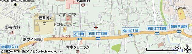 茨城県水戸市石川周辺の地図
