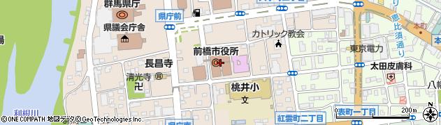 群馬県前橋市周辺の地図